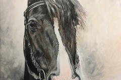 Black-and-white-Irish-Tinker-acrylic-painting