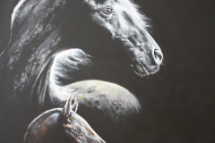 PRE horse mare and foal painting