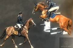 sport-horses-pastel-drawing