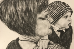 "alt=""boy-with-his-grandmother-graphite-pencil-drawing"""